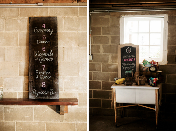 Barn Wedding Chalkboard