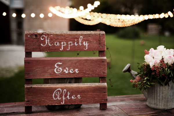 Barn Wedding Reception Sign